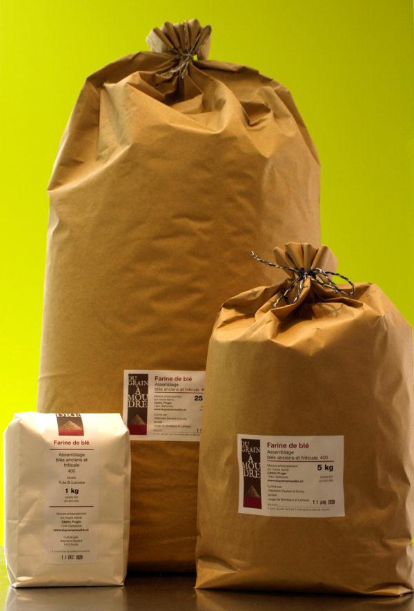 farine de blé ancien et triticale